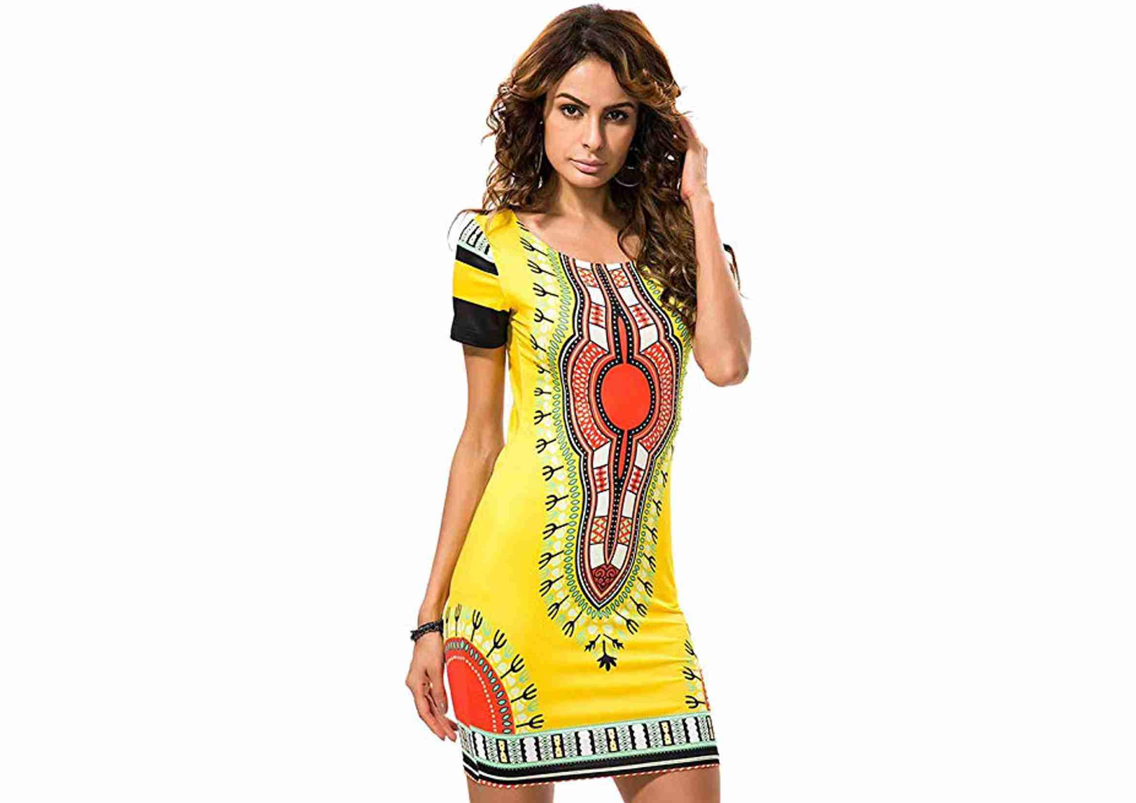 Vestido Boho Fiesta Etnico Estilo Africano Bohemio
