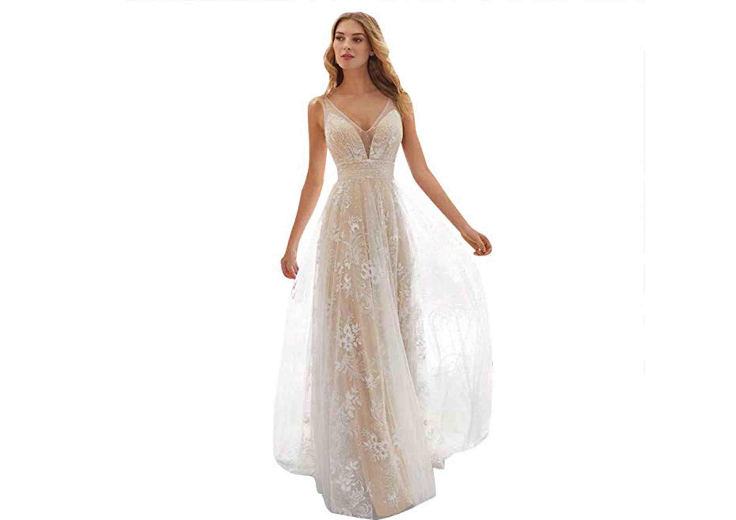 Vestidos ibicencos novia baratos gasa