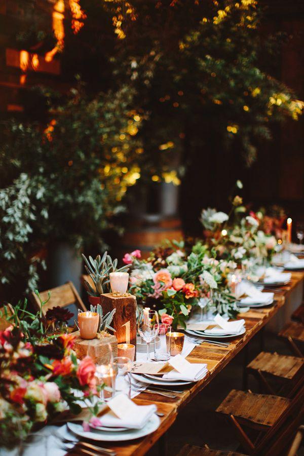 Banquete boda bohemia
