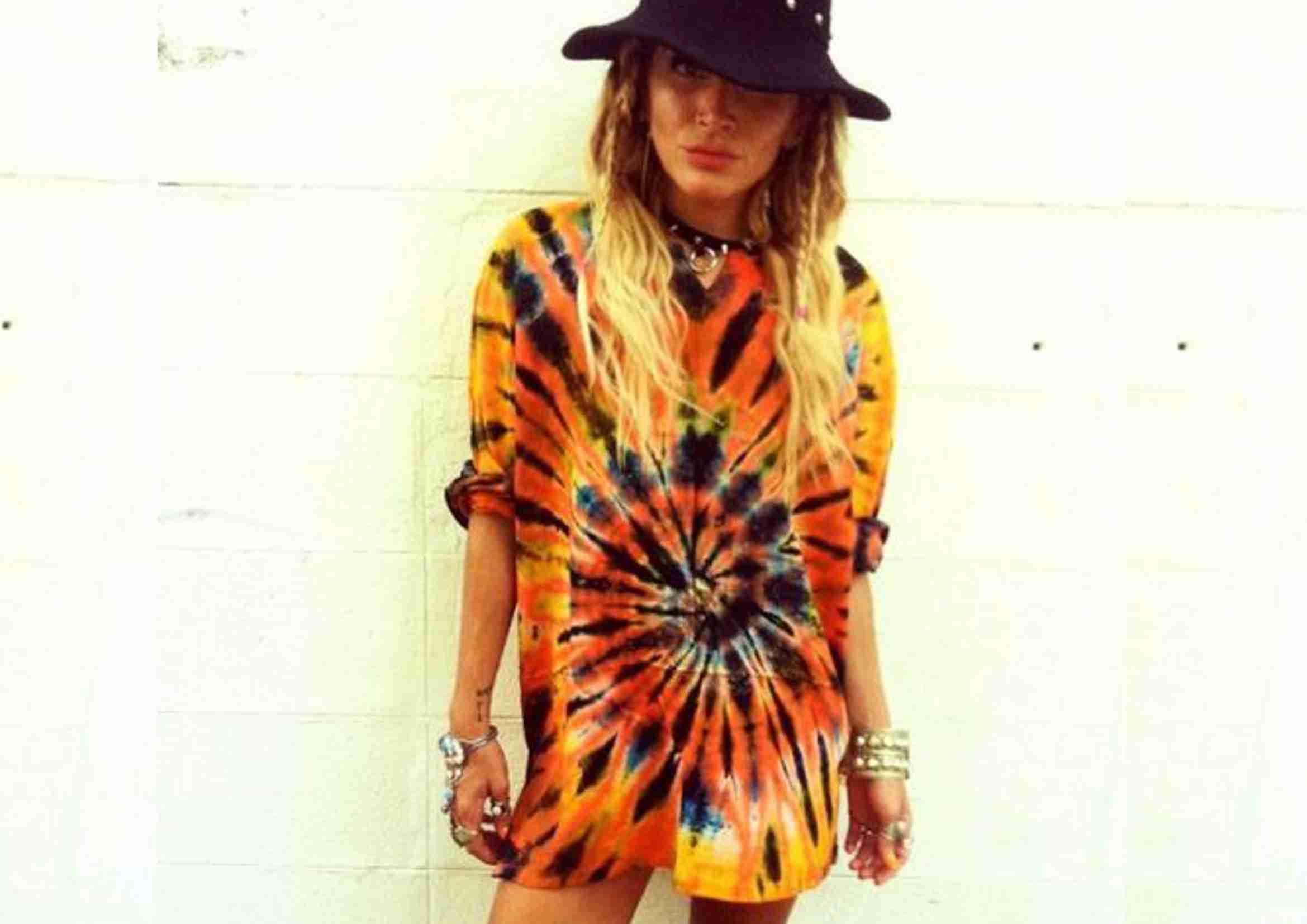 Camisetas hippies tie dye