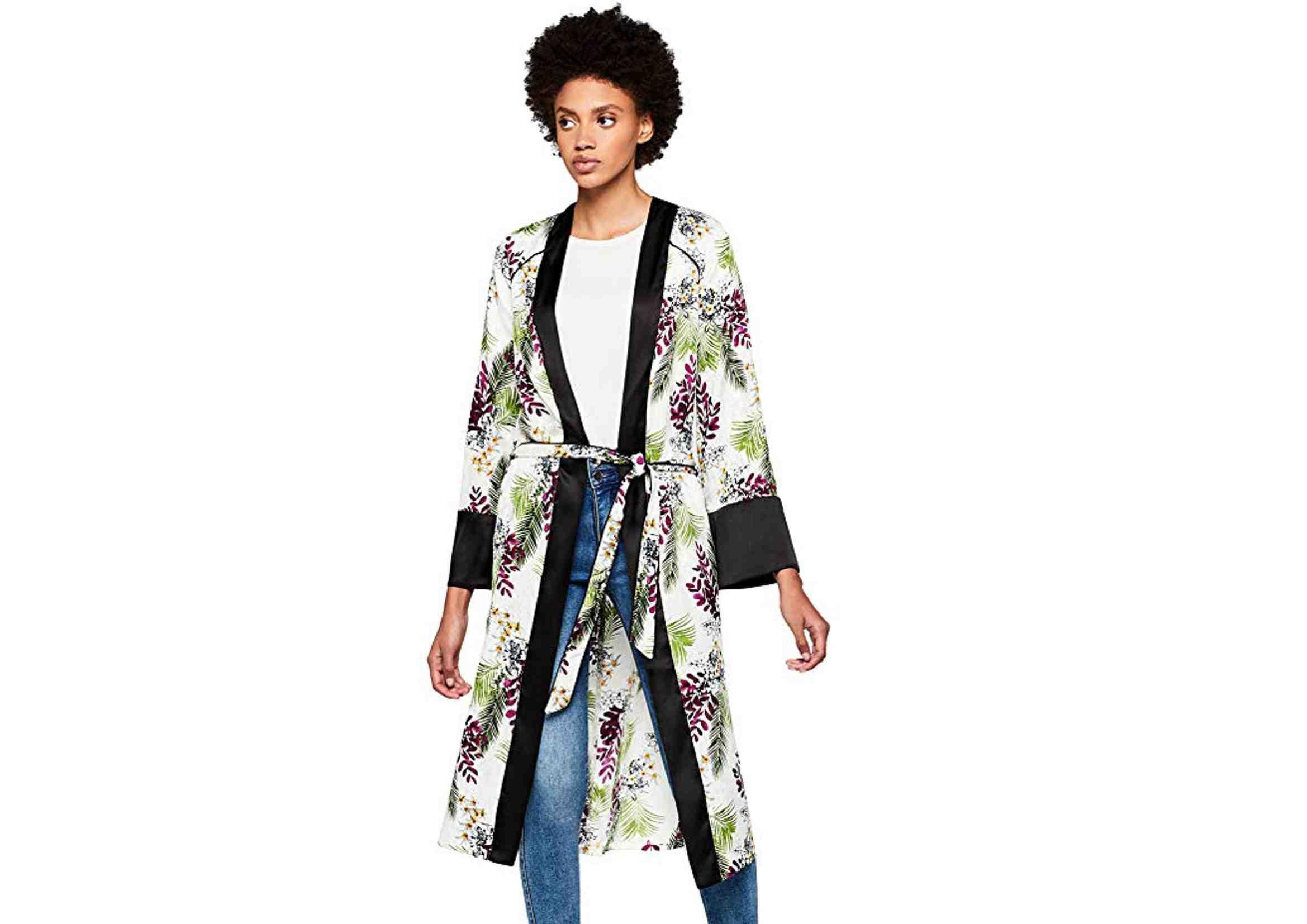 kimono boho largo estampado