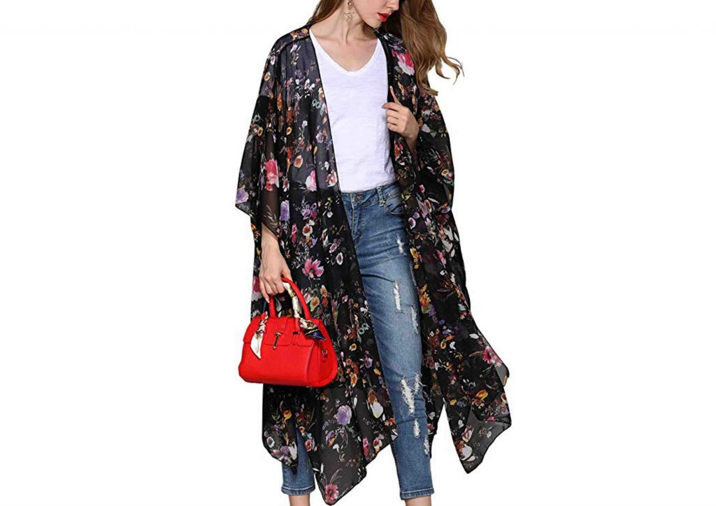 Kimono Bohemio Floral Largo