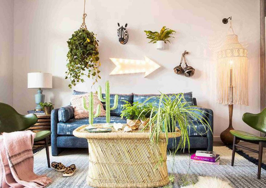 Salon Moderno Boho Chic