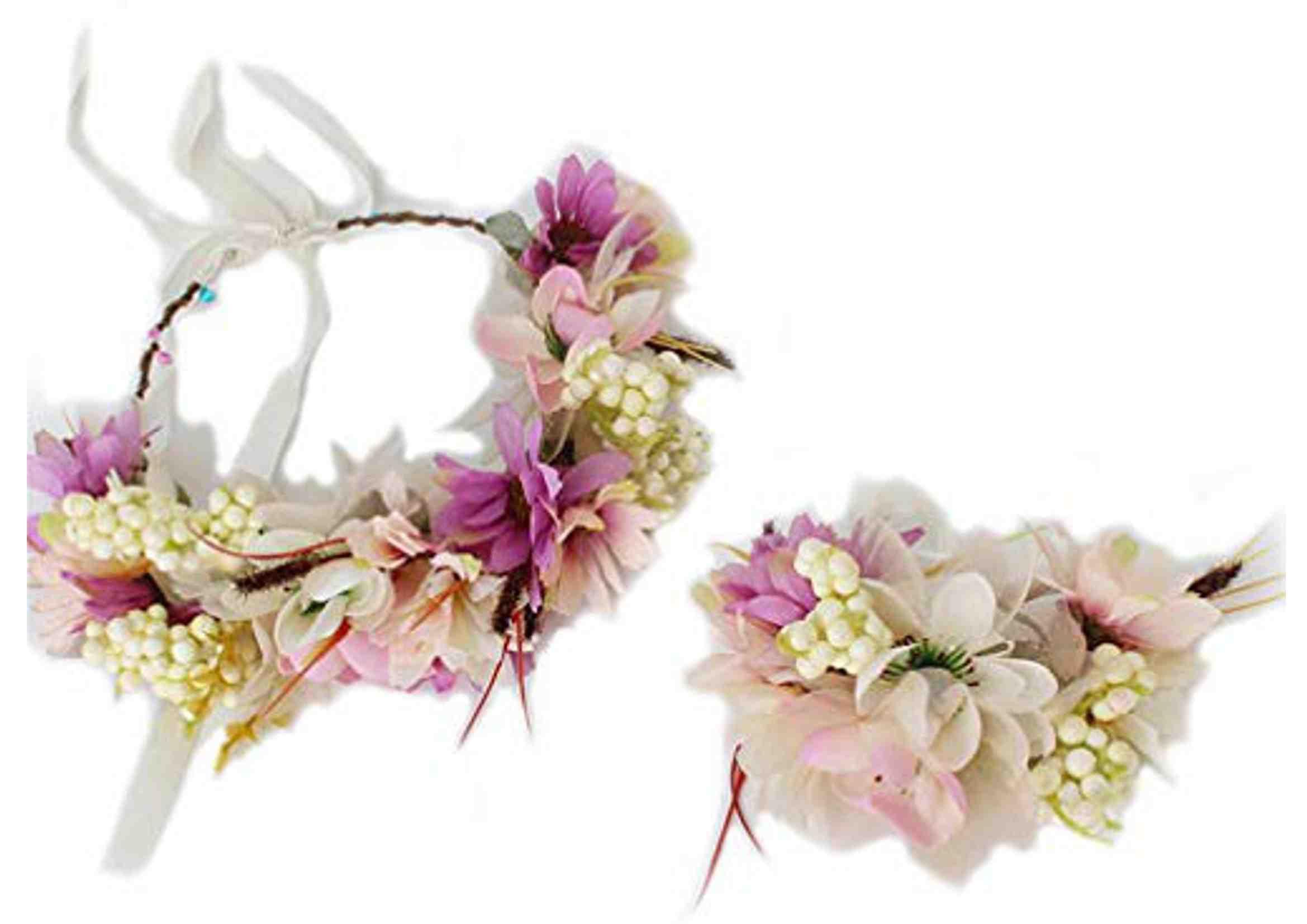 tocado de flores ibicencas