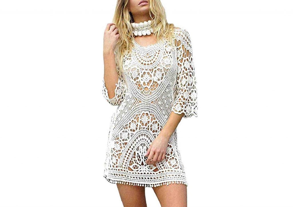 Vestido Bohemio Corto Blanco