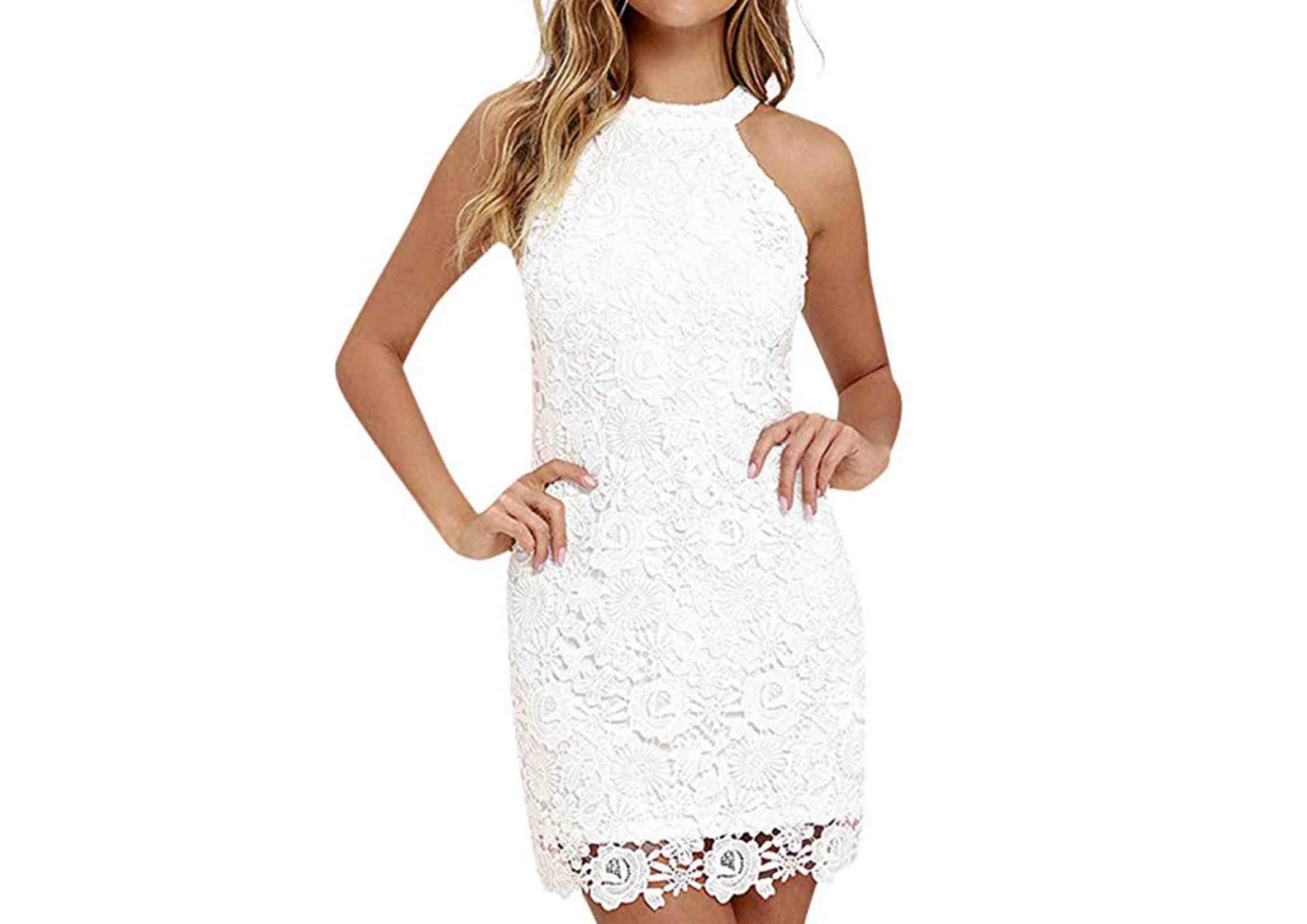 vestidos ibicencos cortos elegantes blancos