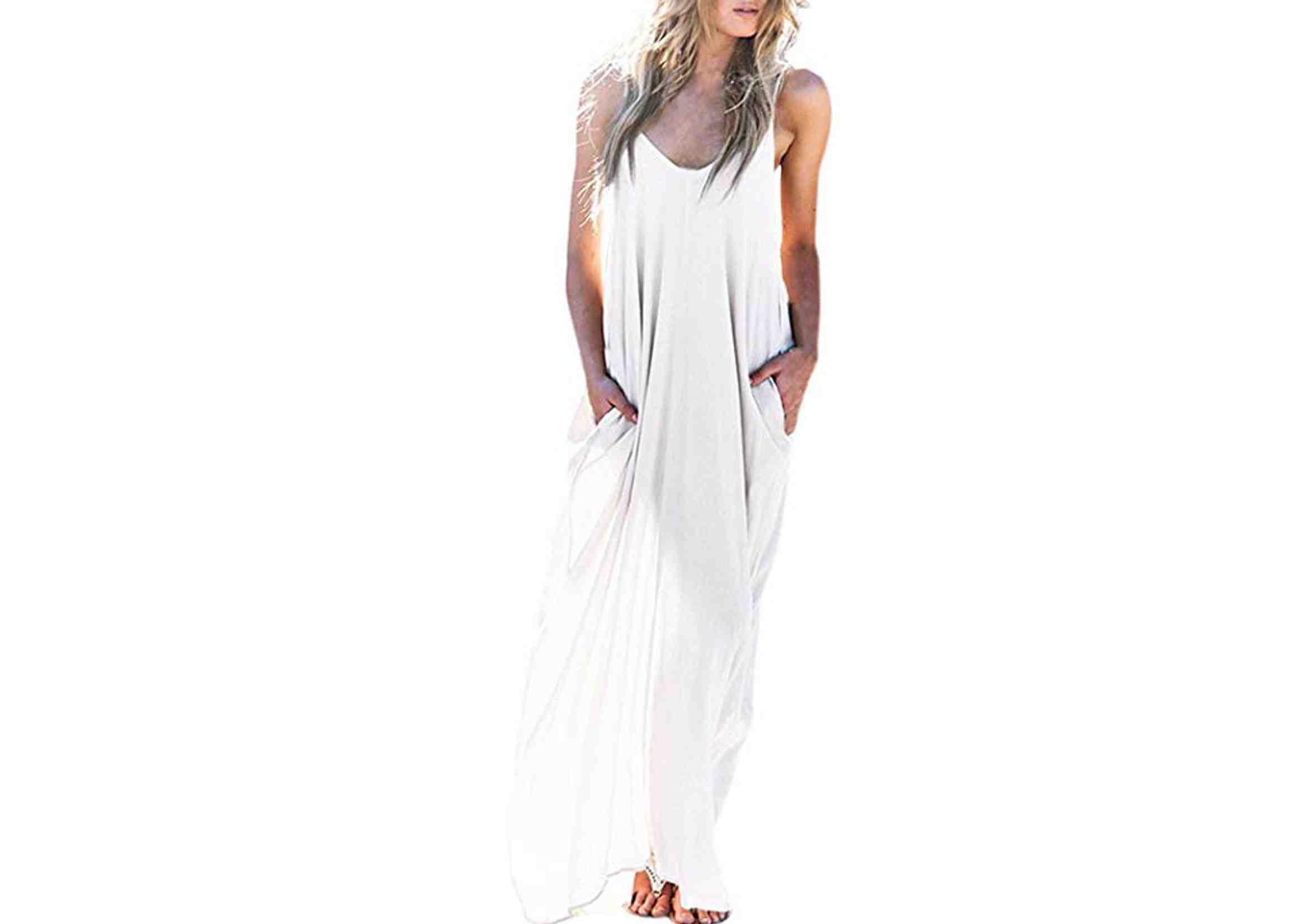 Vestidos Ibicencos Largos Casual Blanco