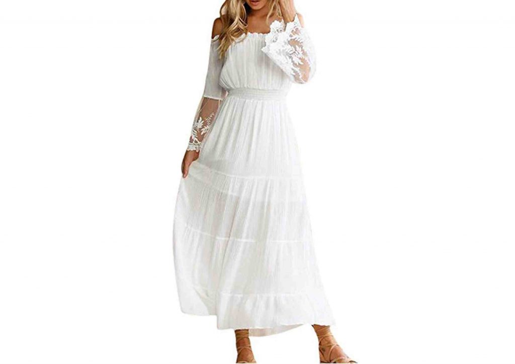 Vestido Blanco Largo Hippy Chic