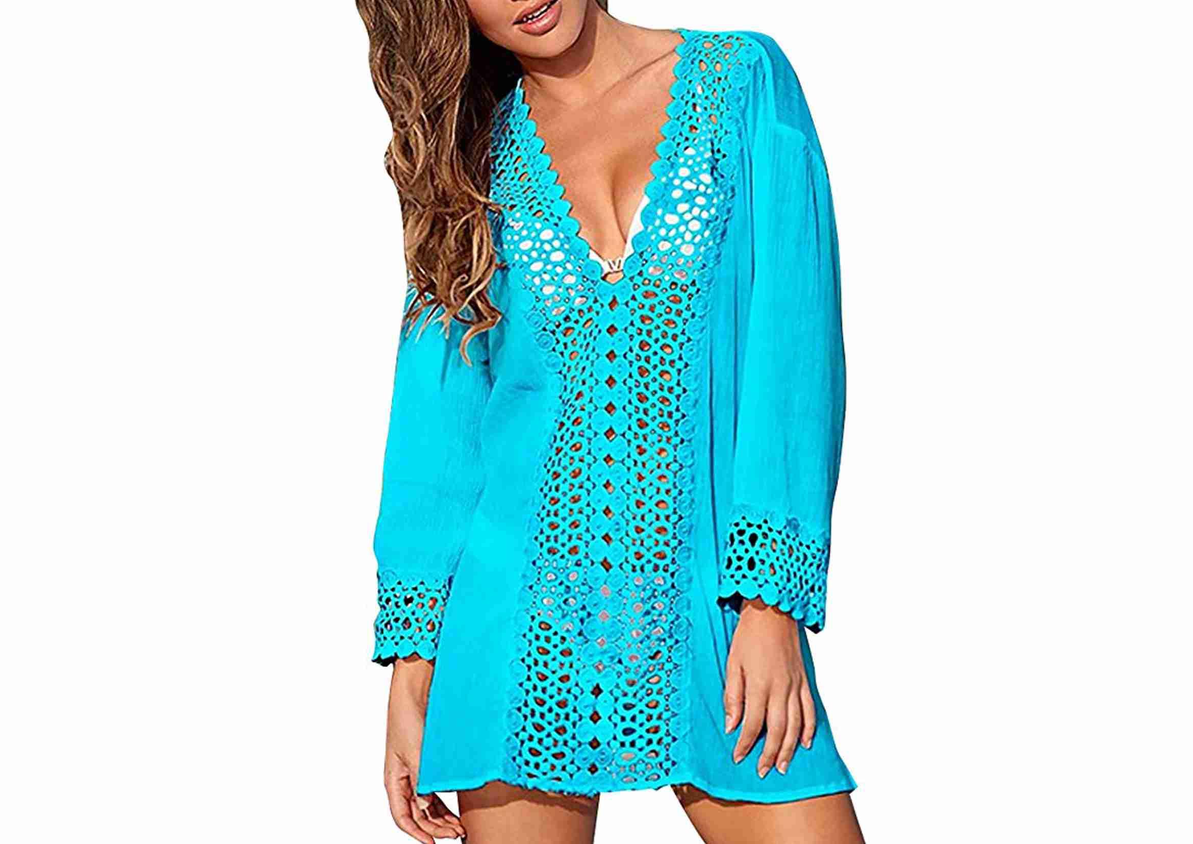 vestido de playa turquesa