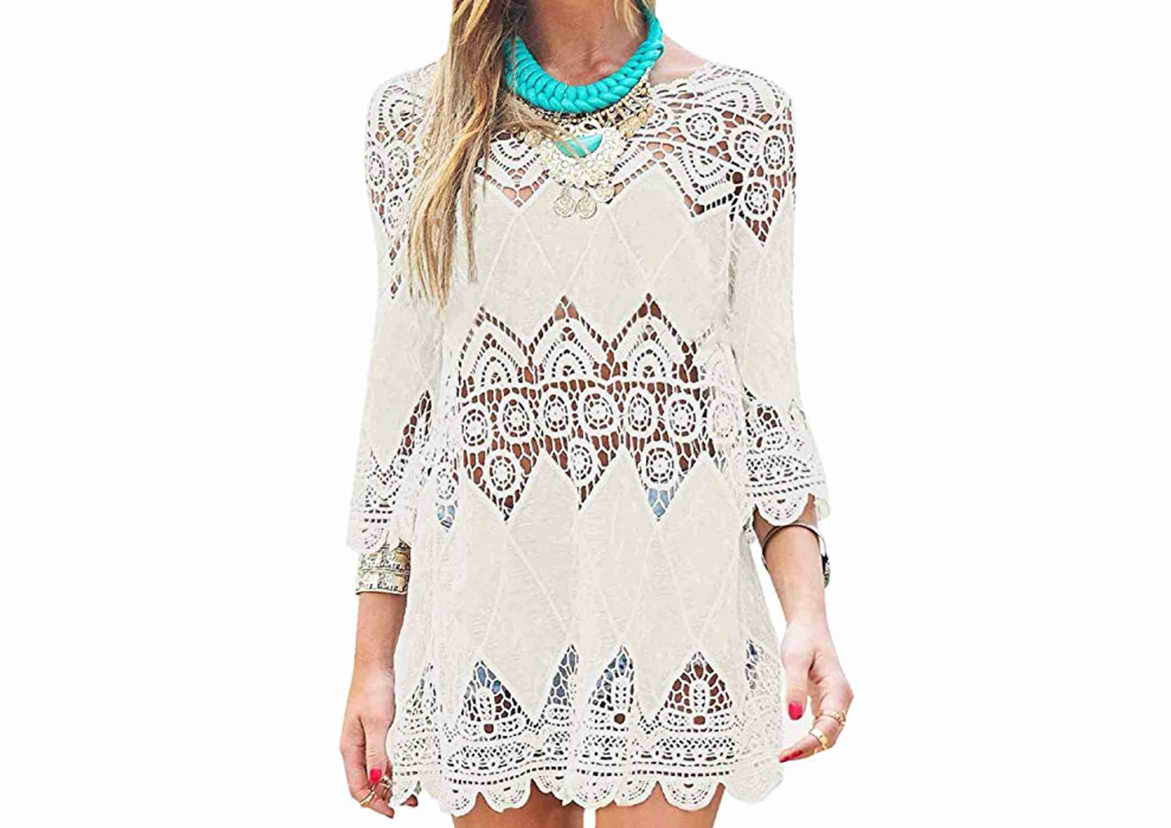 vestido playero crochet