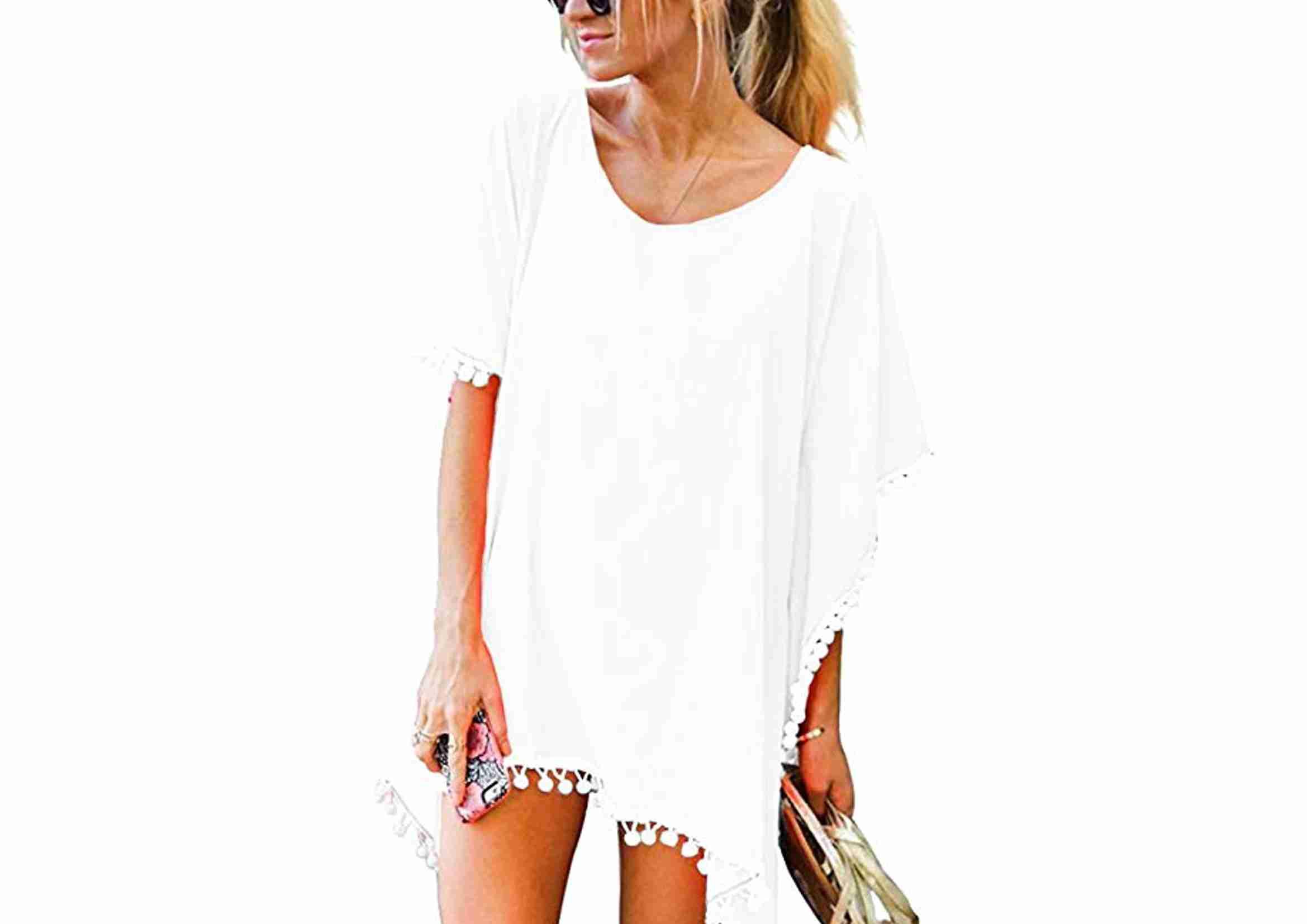 vestidos playeros blancos mujer tipo ibicenco