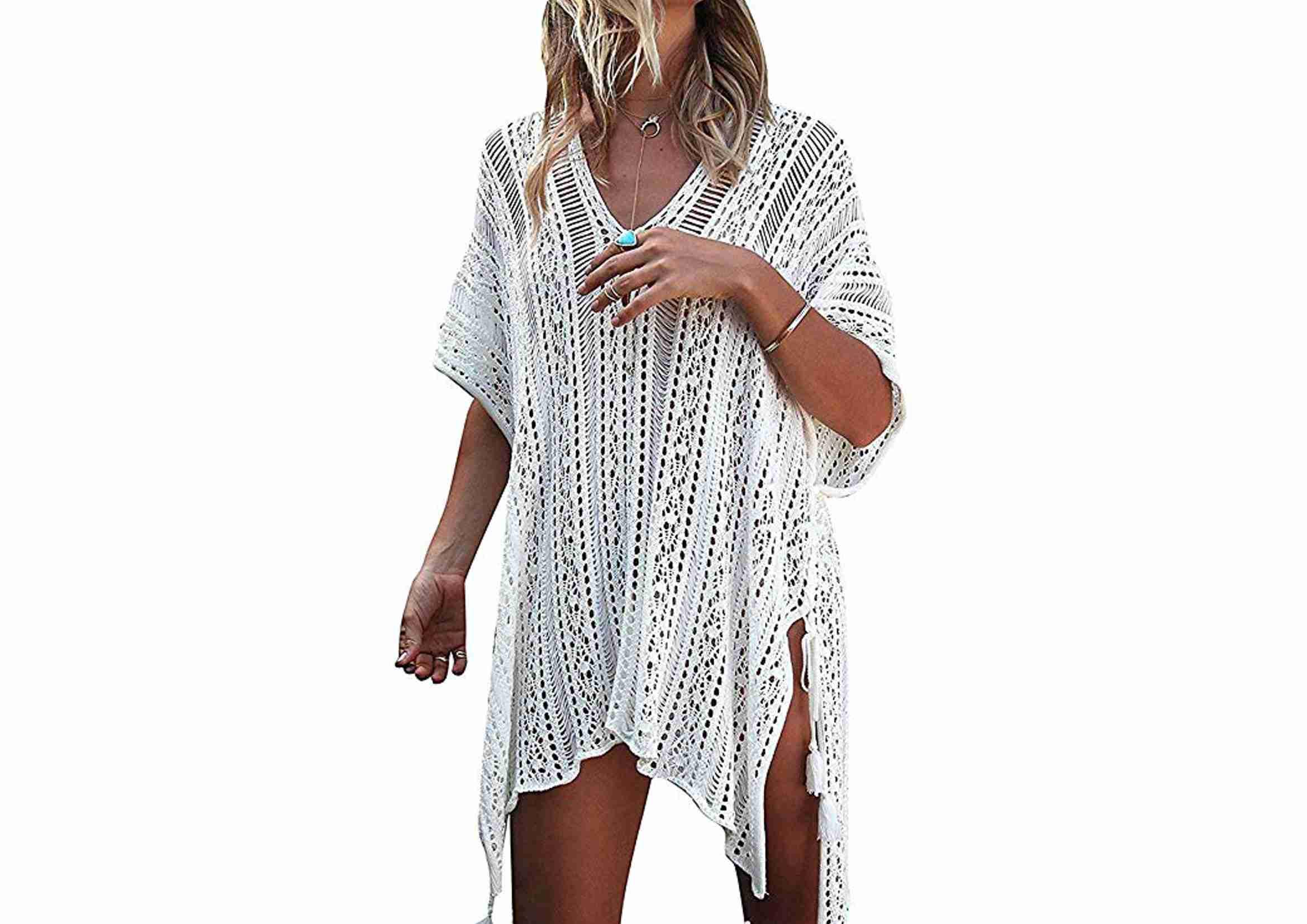 vestido de playa blanco crochet