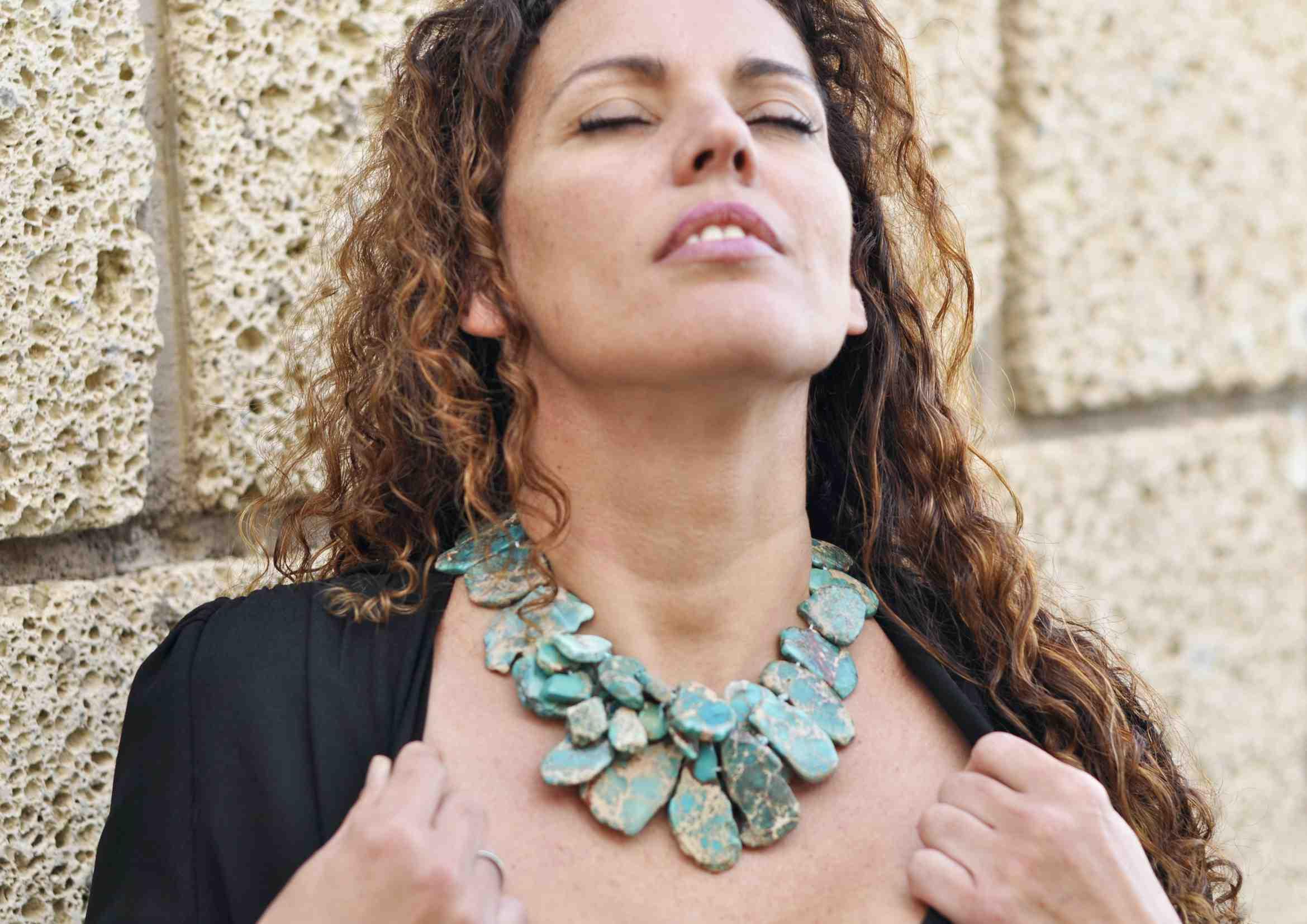 Collares de Moda en turquesa Natural