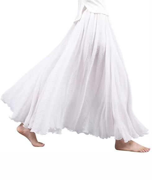 falda-blanca-larga-hippie