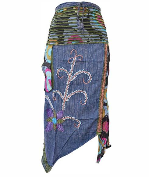 falda-hippie-asimetrica