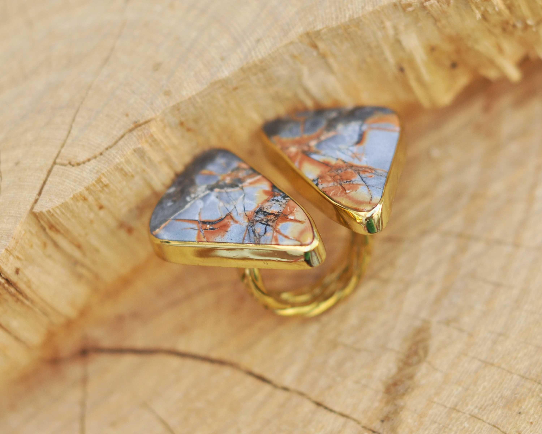 anillos boho de jaspe