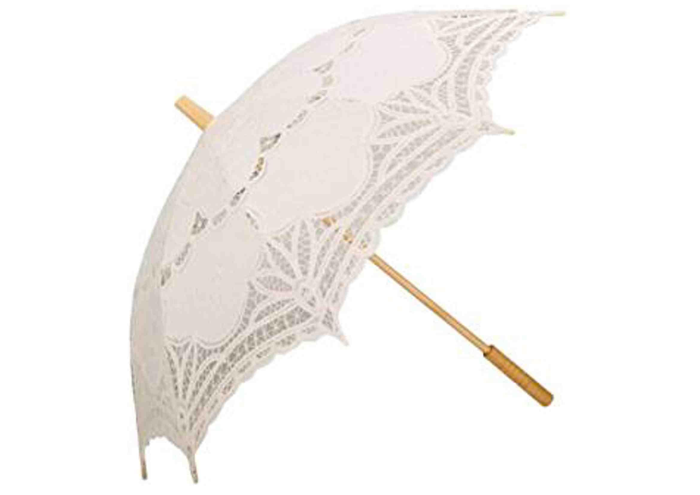 parasol boda sombrilla bordada de encaje